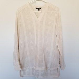Banana Republic long sleeve Semi-sheer blouse